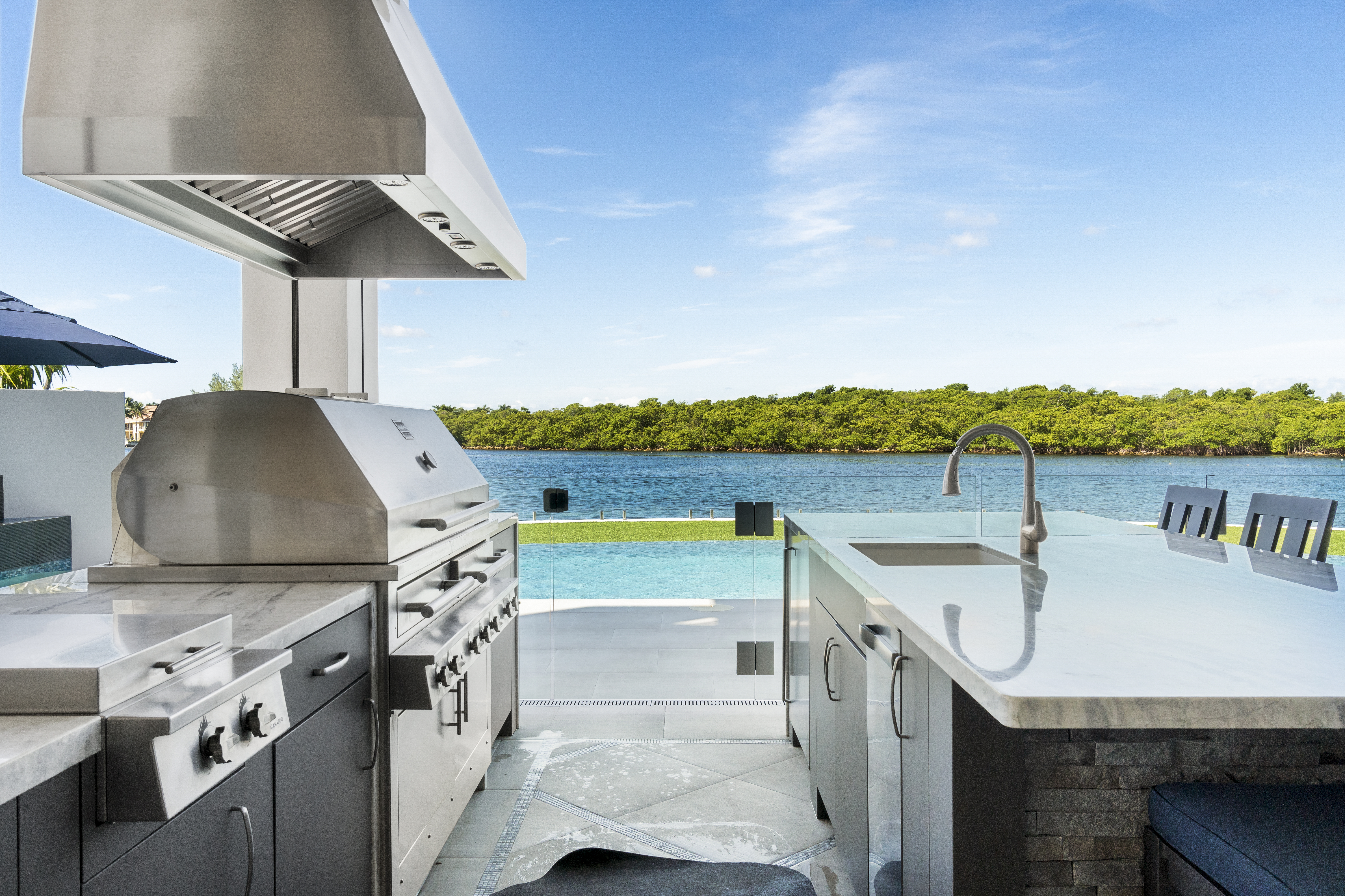 BBQ Area and Intracoastal view